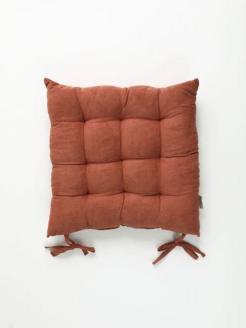 כרית ישיבה מרובעת דמוי זמש Suede