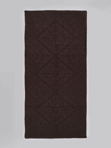 שטיח אמבט מלבני עם עיטורי רקמה