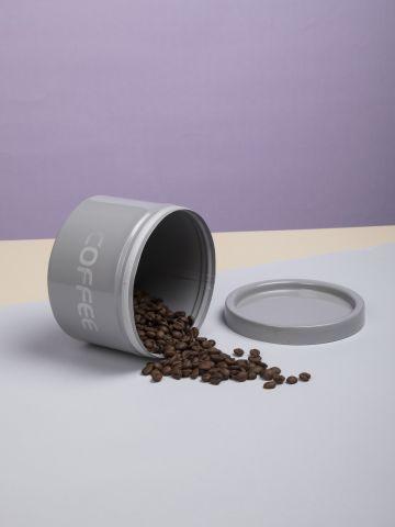 קופסת נירוסטה עגולה לאחסון קפה