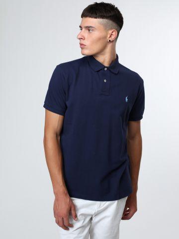 חולצת פולו סלים פיט עם רקמת לוגו