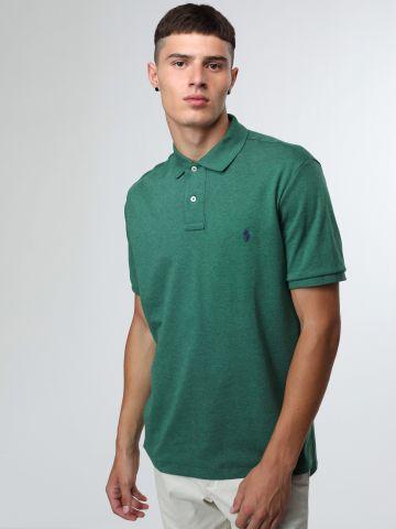 חולצת פולו אסימטרית עם רקמת לוגו Classic Fit