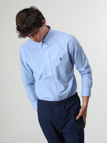 חולצה מכופתרת סלים פיט בייסיק