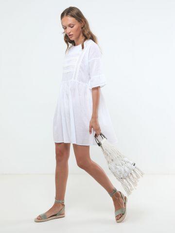 שמלת מיני עם עיטורי רקמה של YANGA