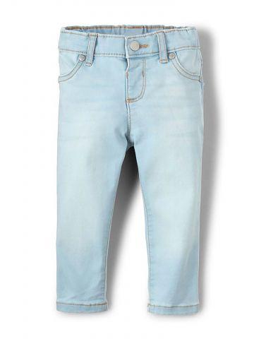 ג'ינס סקיני ווש בשטיפה בהירה/ בנות