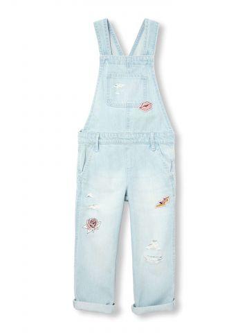 אוברול ג'ינס עם פאצ'ים / בנות