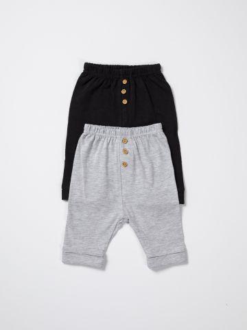 מארז 2 מכנסיים ארוכים עם כפתורים / בייבי