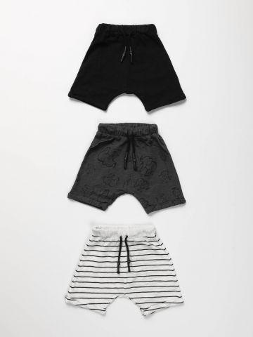 מארז 3 מכנסיים בהדפסים / בייבי בנים