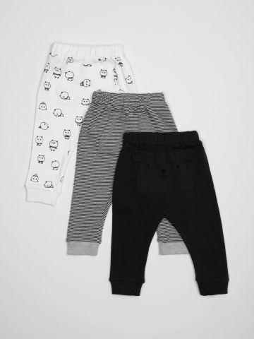 מארז 3 זוגות מכנסיים עם כיס / בייבי