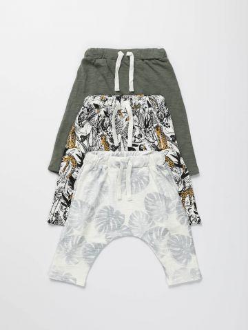 מארז 3 מכנסיים ארוכים בהדפס / בייבי בנים