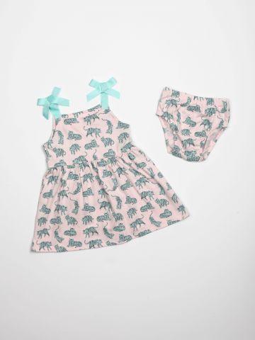 שמלה בהדפס טיגריסים / בייבי בנות