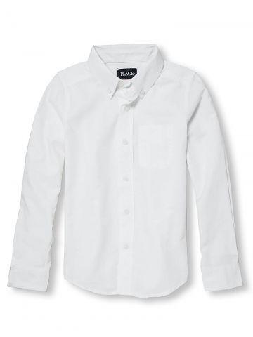 חולצה מכופתרת בייסיק עם כיס / בנים