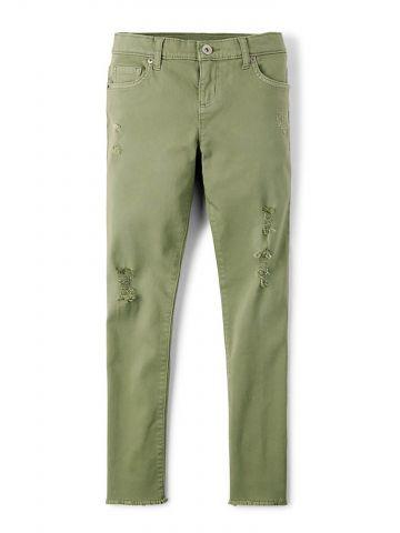 מכנסי סקיני בעיטור קרעים/ בנות