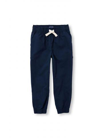 מכנסי אריג חלקים עם גומי בסיומות / בנים