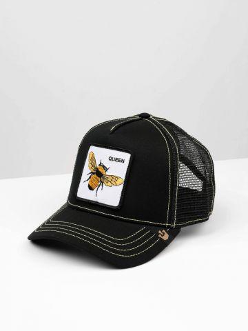 כובע מצחייה עם פאץ' דבורה