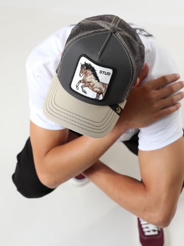 כובע מצחייה עם פאץ' סוס