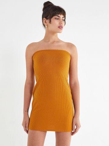 שמלת ריב סטרפלס טיוב UO