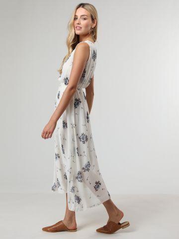 שמלת מקסי בהדפס פרחים