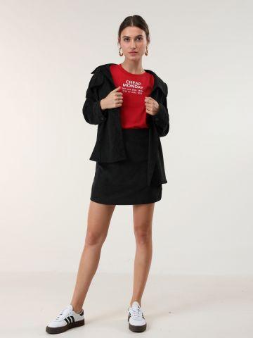 חצאית מיני קורדוי - חלק מחליפה