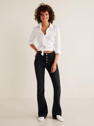 ג'ינס מתרחב בשילוב כפתורים