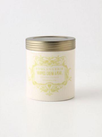 נר ריחני בצנצנת קטנה Whipped Cream & Pear