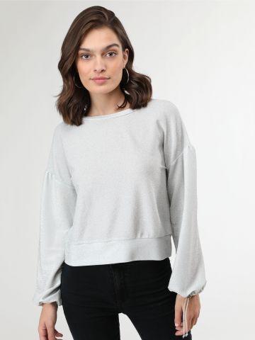חולצת לורקס עם שרוולים נפוחים