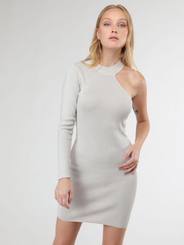 שמלת לורקס מיני וואן שולדר עם צווארון קולר