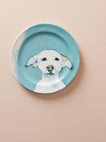 צלחת חרסינה בהדפס כלב Sally Muir / קינוח
