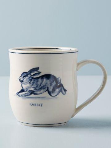 מאג חרסינה בהדפס ארנב Molly Hatch