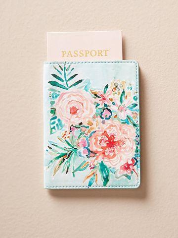 כיסוי לדרכון בהדפס פרחים