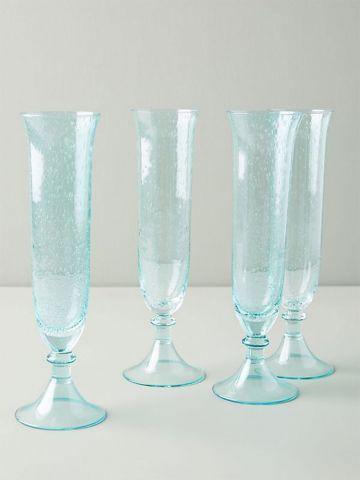 סט 4 גביעי זכוכית צבעוניים Carra