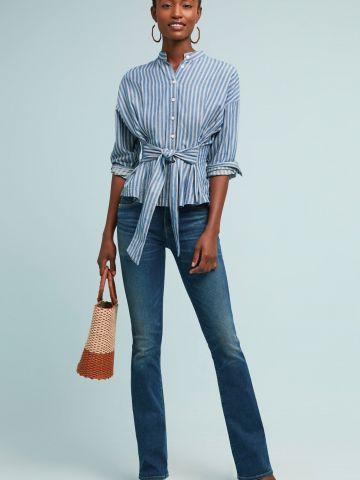 ג'ינס סלים עם סיומת מתרחבת