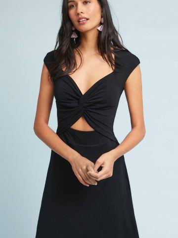 שמלת מיני וי עם סלסול בחזית