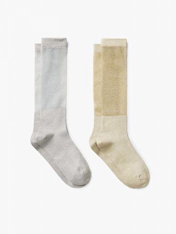 מארז 2 זוגות גרביים מטאליים / נשים