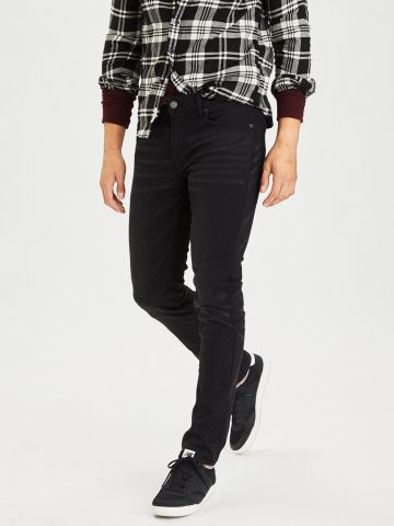 מכנסי ג'ינס סקיני עם שפשופים עדינים Skinny