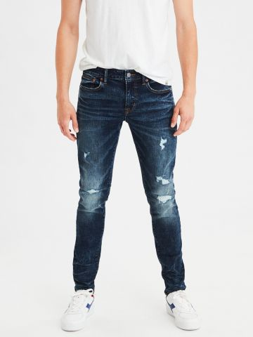 ג'ינס סקיני עם קרעים Skinny Jean