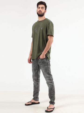 מכנסי ג'ינס סקיני אסיד ווש Skinny Flex