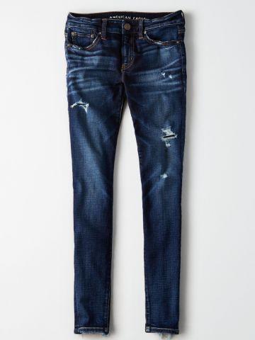 ג'ינס סקיני קרעים עם סיומת פרומה / נשים של AMERICAN EAGLE