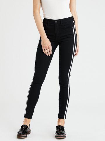 ג'ינס סקיני סטרץ' עם סטריפים Skinny