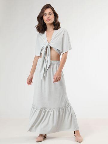 חצאית מקסי פפלום לורקס