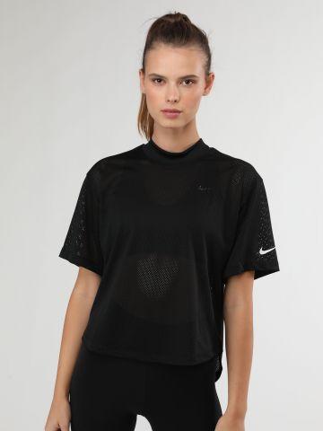 חולצת דריי-פיט אסימטרית בשילוב רשת של NIKE