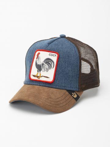 כובע מצחייה עם פאץ' תרנגול