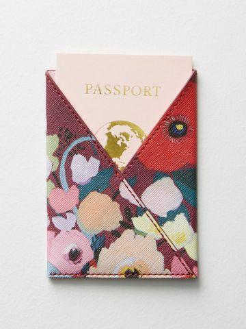 כיסוי לדרכון בהדפס פרחים KT Smail