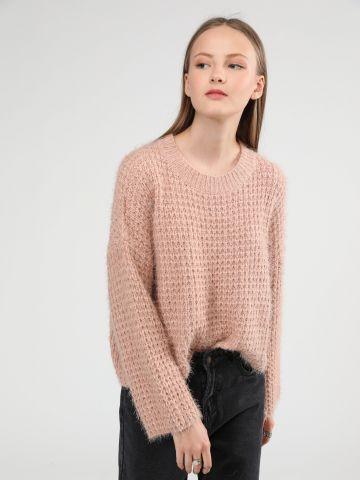 סוודר קרופ וופל