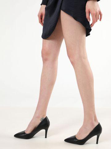 נעלי עקב סטילטו דמוי עור של TERMINAL X