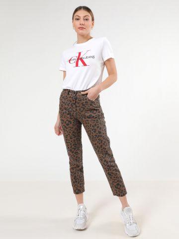 ג'ינס סקיני בהדפס מנומר דהוי