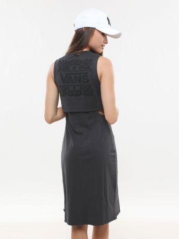 שמלת שכבות ללא שרוולים
