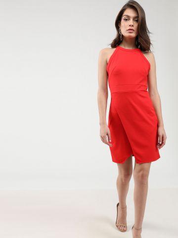 שמלת מיני קולר עם סיומת אסימטרית של TERMINAL X