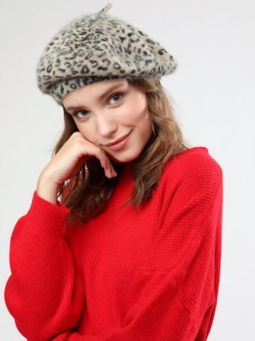 כובע בארט פרוותי בהדפס מנומר