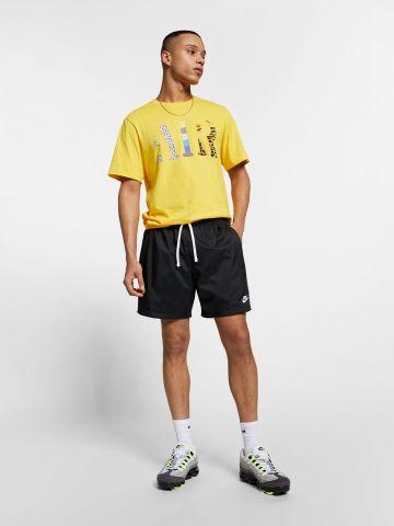 מכנסי ספורט קצרים עם רקמת לוגו