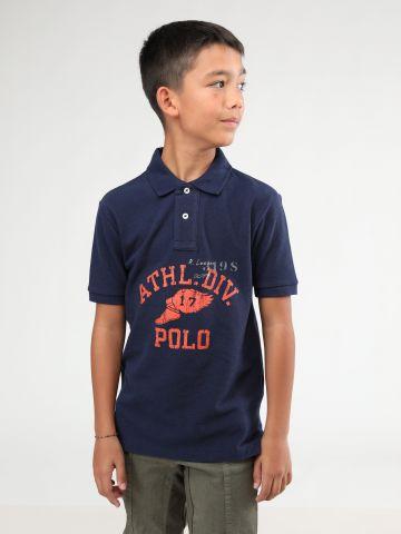 חולצת פולו עם הדפס כיתוב / בנים של RALPH LAUREN